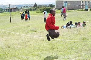 Narok girl skipping